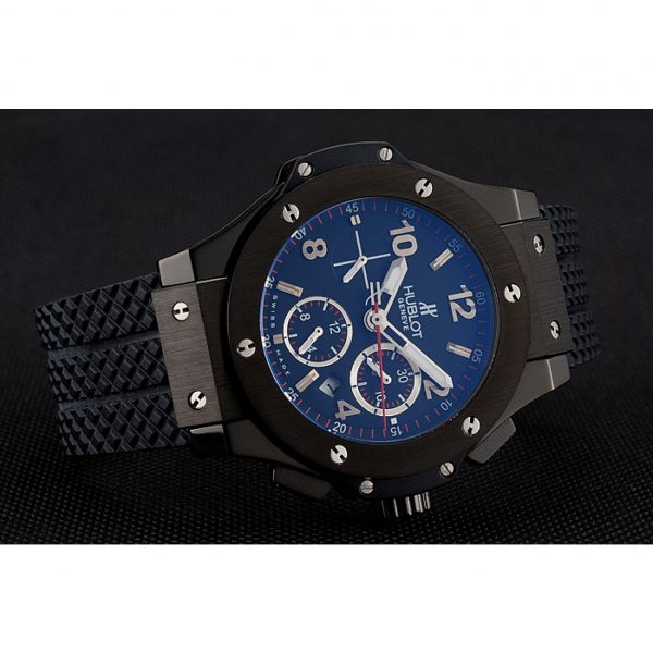 Swiss Hublot Big Bang Carbon Effect Dial Black Case Black Rubber Bracelet 1453902 Replica Review.