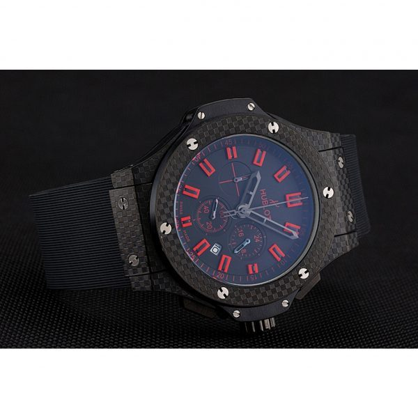 Hublot Big Bang Carbon Dial With Red Markings Carbon Case and Bezel Black Rubber Strap 622775 Replica Review